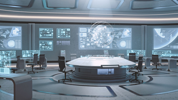 The future of facilities management control solutions for Futuristic control room