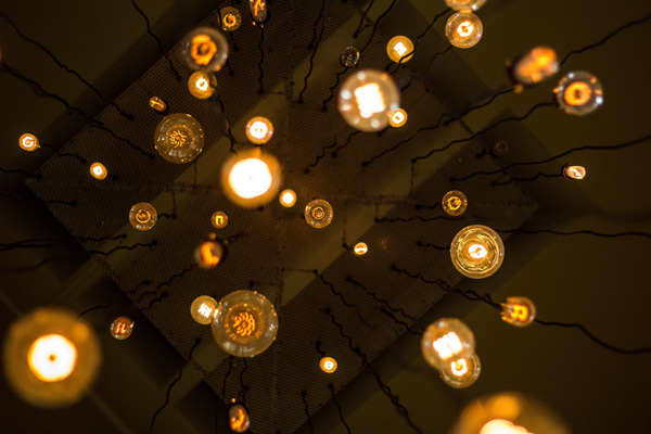Lightbulbs overhead